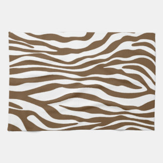 Brown Zebra Animal Print Towels