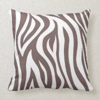 Brown zebra throw pillow