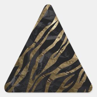 Brown zebra triangle sticker