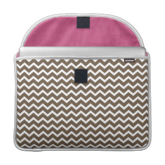 Brown Zig Zag Chevrons Pattern MacBook Pro Sleeves