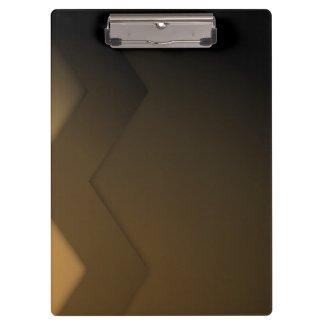 Brown Zig Zag Custom Clip Board Clipboards