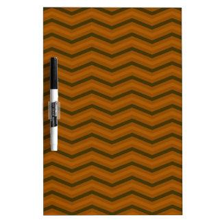 Brown Zig Zag Pattern Dry-Erase Whiteboard