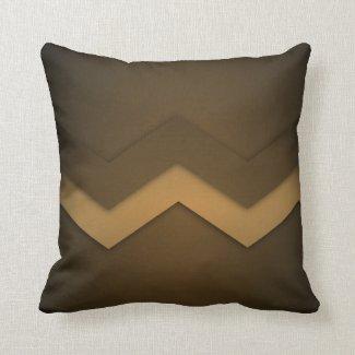 Brown Zig Zags Design Throw Pillow