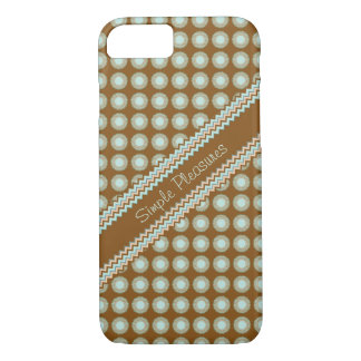Brown Zigzag and Polka dots iPhone 8/7 Case
