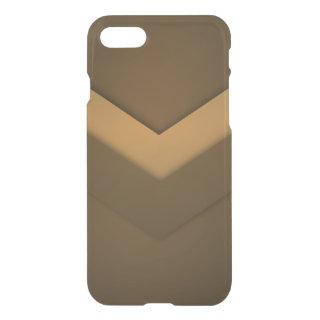 Brown Zigzag Design iPhone 7 Case