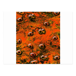 Brown Zombi Eyes Post Cards