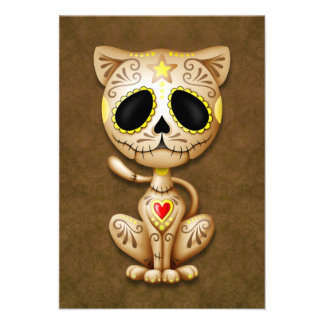 Brown Zombie Sugar Kitten Cat Announcements
