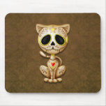 Brown Zombie Sugar Kitten Cat Mouse Pad