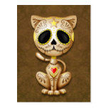 Brown Zombie Sugar Kitten Postcard