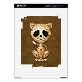 Brown Zombie Sugar Kitten iPad 3 Decals