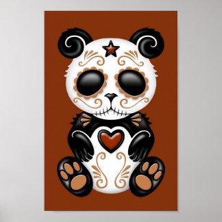 Brown Zombie Sugar Panda Poster