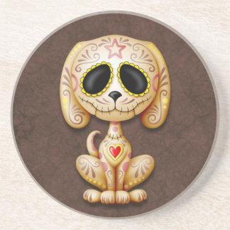Brown Zombie Sugar Puppy Sandstone Coaster
