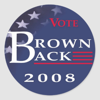 Brownback '08 Sticker