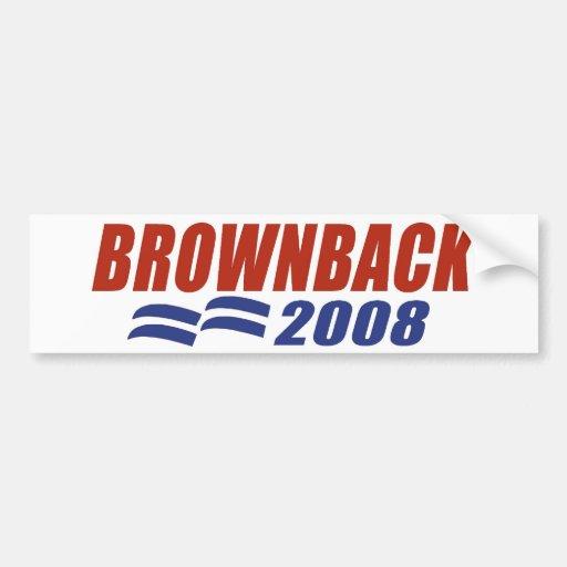 Brownback 2008 car bumper sticker