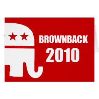 BROWNBACK 2010 GREETING CARD