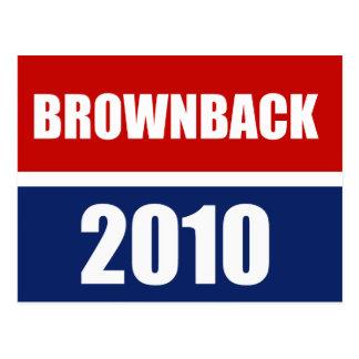 BROWNBACK 2010 POSTCARD