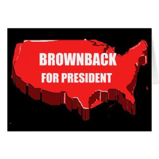 BROWNBACK 2012 GREETING CARD