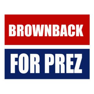 BROWNBACK 2012 POSTCARD