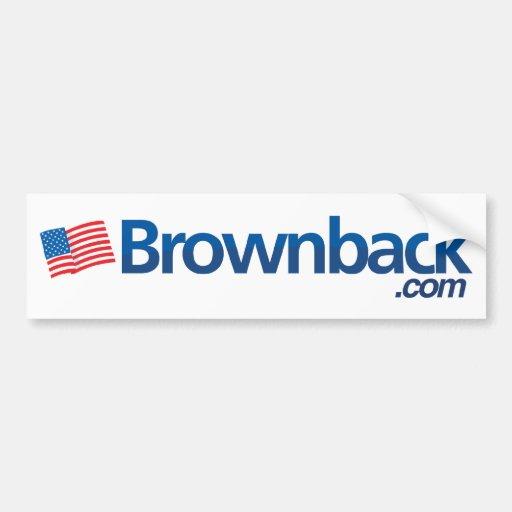 Brownback.com Bumper. Car Bumper Sticker