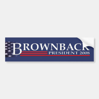 BROWNBACK FOR PRESIDENT 2008 Bumper Sticker