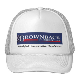 BROWNBACK FOR PRESIDENT Cap Trucker Hat