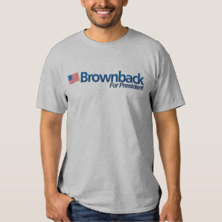 Brownback for President Grey Tee