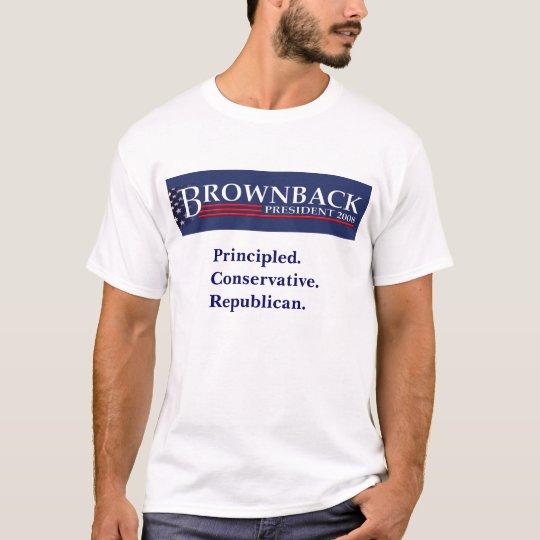 BROWNBACK FOR PRESIDENT T-Shirt