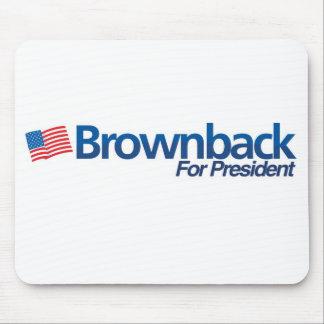 Brownback para el cojín del presidente ratón alfombrilla de ratones