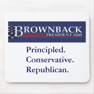 BROWNBACK PARA PRESIDENTE Mousepad