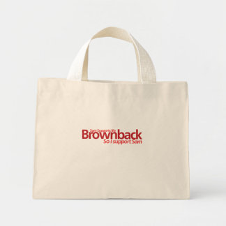 Brownback Supports Life Beach Bag