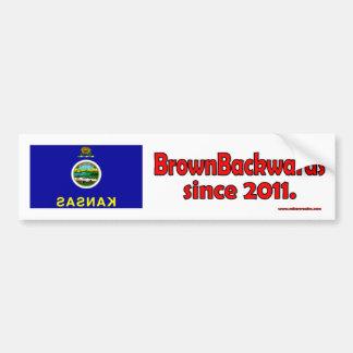 BrownBackwards Pegatina Para Auto