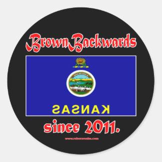 BrownBackwards Stickers