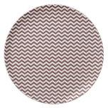 BrownChevron Plate