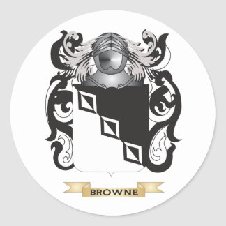 Browne-2 Coat of Arms (Family Crest) Stickers