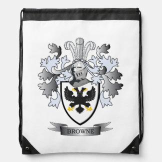 Browne Coat of Arms Drawstring Bag