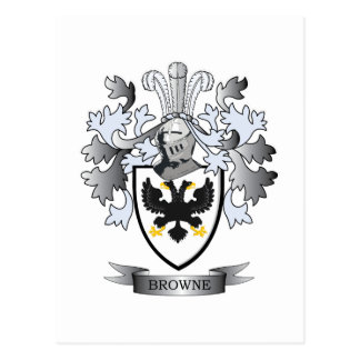 Browne Coat of Arms Postcard