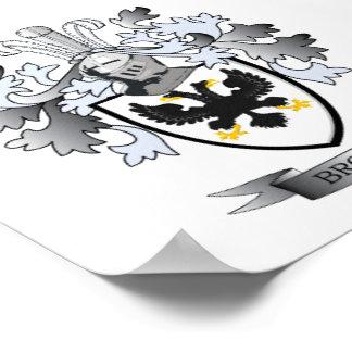 Browne Coat of Arms Poster