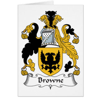 Browne Family Crest Card
