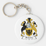 Browne Family Crest Keychains