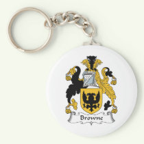 Browne Family Crest Keychain