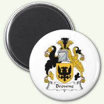 Browne Family Crest Magnet