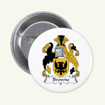 Browne Family Crest Button