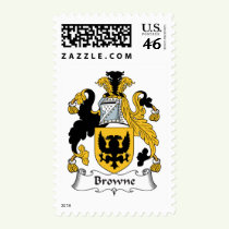 Browne Family Crest Stamps