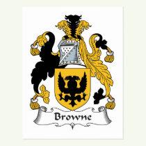Browne Family Crest Postcard