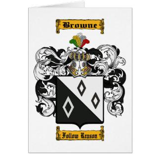 Browne (Irish) Card
