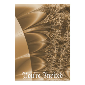 Browned Ivory Trace Fractal 5x7 Paper Invitation Card