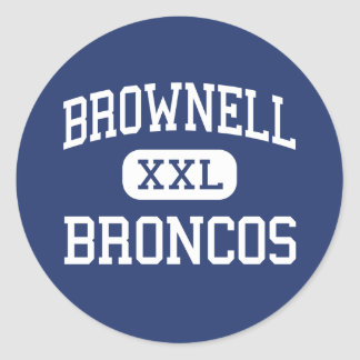 Brownell Broncos Middle Grosse Pointe Classic Round Sticker