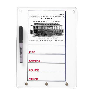 Brownell Car Company 1890 Dry-Erase Board