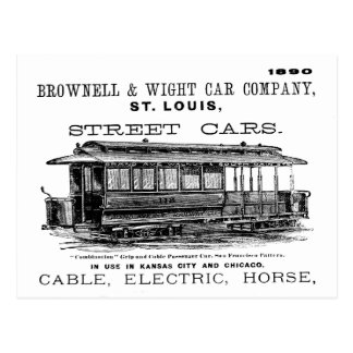 Brownell Car Company 1890 Postcard