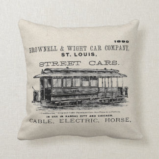 Brownell Car Company 1890 Throw Pillow